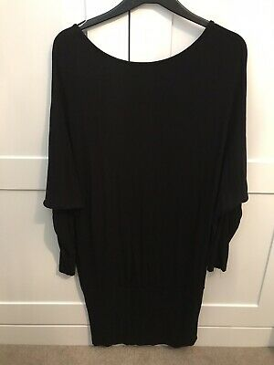 ASOS Maternity Black Bat Wing Dress Size 12 Excellent  Cond.