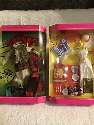 """Mattel Barbie Millicent Roberts Clothes Set Of 2  """"picnic Perfect"""" """"goin To Game"""