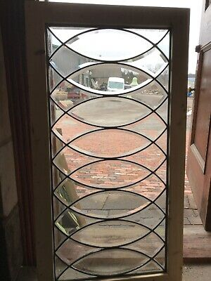 SG 2812 amazing antique all beveled glass transom window 24.75 x 47