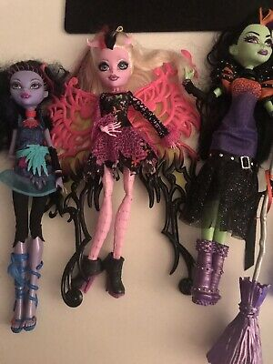 monster high dolls used bundle