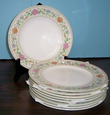 "Lot Of 9 Wedgwood Brocade Salad Plates 8"" Free Us Shipping"