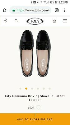 2a08ddaa8e2 tods city gommino driving loafers womens 39 eu size 9 us black patent