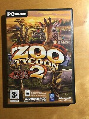 ZOO TYCOON 2 AFRICAN ADVENTURE Add-On Expansion Pack Pc Cd Rom