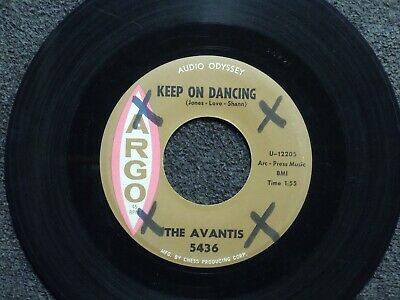 northern soul THE AVANTIS Keep On Dancing ARGO 5436 M- listen!!