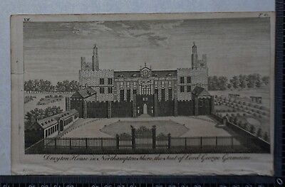 1776 - Engraving of Drayton House in Northamptonshire, Seat of Lord Geo.Germaine