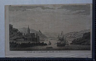 1776 - Engraving of View of Dartmouth Castle in Devonshire