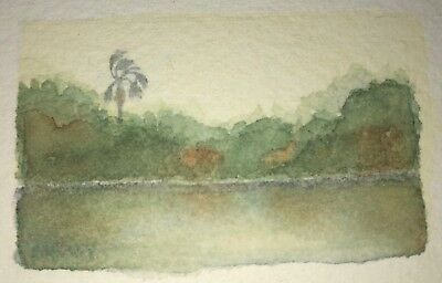 ACEO Miniature Original Watercolor Painting Landscape by unknown, beautiful art