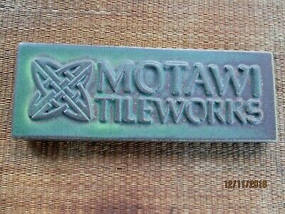 Motawi tile art pottery matte green glaze