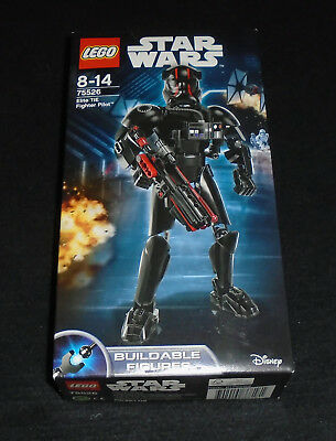 Lego Star Wars Buildable Figure Elite TIE Fighter Pilot 75526 First Order