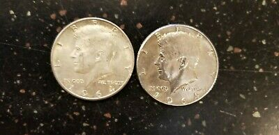 1964-P KENNEDY 90 PERCENT SILVER HALF DOLLAR- Set of Two