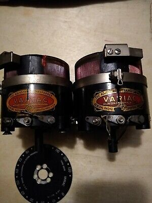 Set of two General Radio Type 200B Variac Variable Transformer - UNTESTED