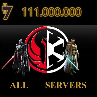 SWTOR Credits 111.000.000 111 Million STAR FORGE SERVER Empire and Republic