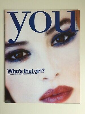 YOU Magazine rare 90s Monica Bellucci Film Cover And Feature Adverts Photos 1999