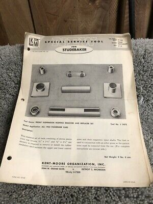 1953 Studebaker Special Service Tools Service Bulletins Kent Moore ST-2-53