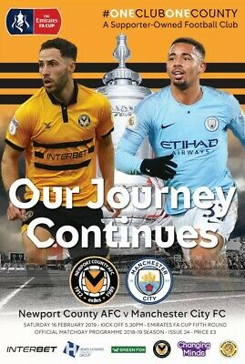 NEWPORT COUNTY  v  MANCHESTER CITY 18/19   FA CUP 5th Round