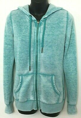 Roxy Quiksilver Women's Teal Full Zip Hoodie Sweatshirt! Logo on Back. Size XS