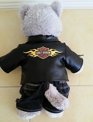 Collectible Harley Davidson Build a Bear like new