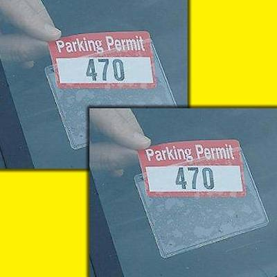 (1) Parking Permit Holder Sticky Back For Car Windshield -  FREE SHIPPING