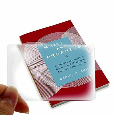 Pack of 1-2-3-5 Credit Card Size Plastic 3x Magnifying Glass USA FREE SHIPPING