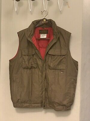 Vintage Eddie Bauer Goose Down Quilted Vest Large Puffer USA Fly Fishing Ski