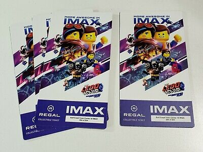 The Lego Movie Part 2 Regal Movie Collector's Ticket ~ Limited Edition of 1000