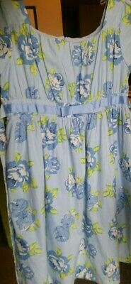 NWT Girls Easter Dress ties blue yellow white flowers