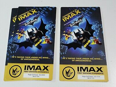 The Lego Batman Movie  Regal Movie Collector's Ticket ~ Limited Edition of 1000