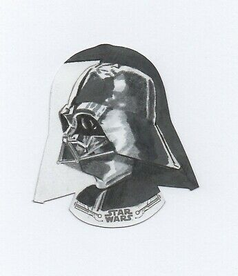 TOPPS STAR WARS EMPIRE STRIKES BACK B&W AP shaped sketch MDye Darth Vader