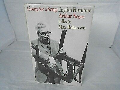VINTAGE 1960's signed ARTHUR NEGUS ENGLISH FURNITURE BOOK published by BBC