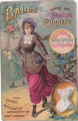 Ball's Corset Chicago & Co., Lovely Lady Victorian Trade Card