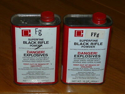 Vintage GOEX FFFg Superfine Black Powder Can Tin EMPTY #1211