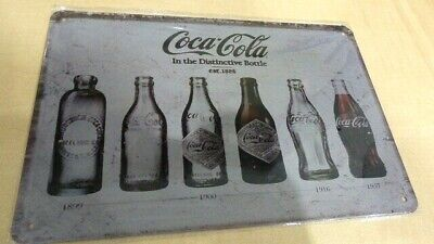 New RARE 1900's Steel Adverting Sign Featuring COCA  COLA Est 1886 -  12'' x 8''