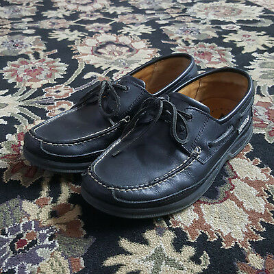 297cc8438d Mephisto Hurrikan Spinnaker Air Bag Black Leather Boat Shoes Mens Size 8  MINT!