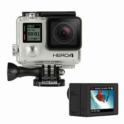GoPro HERO4 Black Action Camera Camcorder Certified Refurbished +New LCD BacPac.