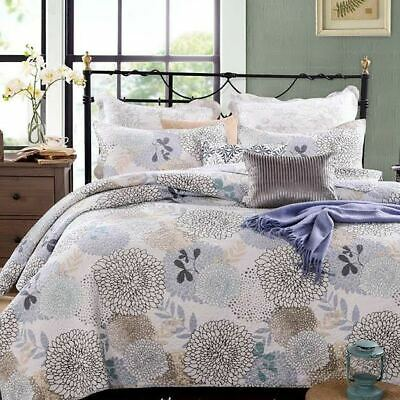 French Country Vintage Inspired Patchwork Bed Quilt FLORAL BLOOM QUEEN New