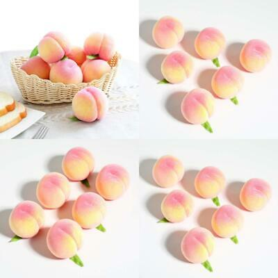 JUSTOYOU Fake Fruits Artificial Peaches Lifelike Simulation Peach 6,