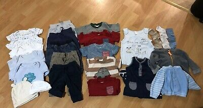 Baby Boys Clothes Bundle First Size 0-3 Months (24 Items)