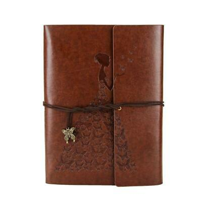 XIUJUAN Photo Album Scrapbook Butterfly Girl Vintage Leather Guest Memory...