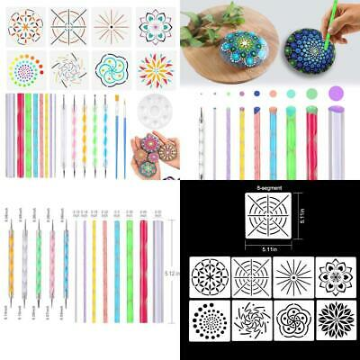 Set of 24 Mandala Dotting Tools Including Acrylic Rods, Double Tips Ball...