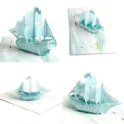 Paper Spiritz Sailboat 3D Pop up Birthday Card, Christmas Cards, Anniversary...