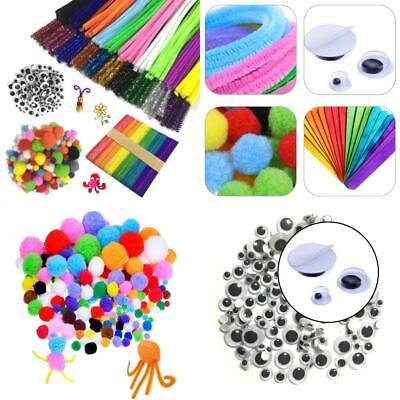 Wartoon Pipe Cleaners Crafts Set, Chenille Stem and 650pcs