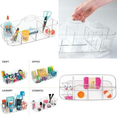 mDesign Art Supplies Organiser Caddy - Great Plastic Arts and Single, Clear