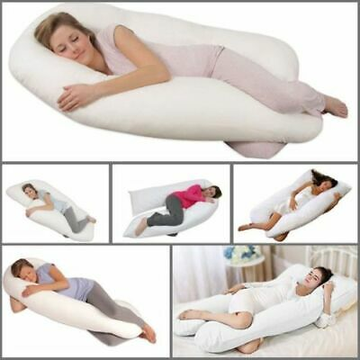 Extra Fill 10Ft Comfort U Pillow Body Back Support Nursing Maternity Pregnancy