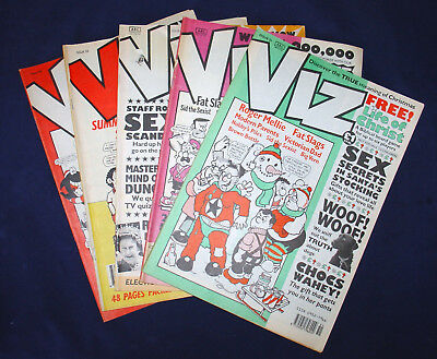 VIZ COMIC - BUNDLE - ISSUES 51 - 52 - 53 - 55 - 58 OVER 18s ONLY