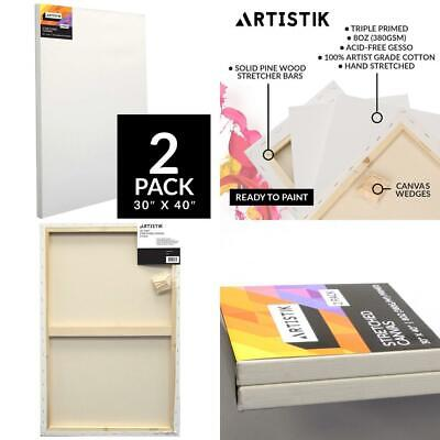 Artistik Blank Canvas - Stretched Frames Panel Board for Painting,100%...