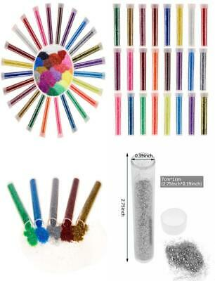 Niceclub Glitter Shaker Tubes for Crafts, Card Decorations, 24 test tube
