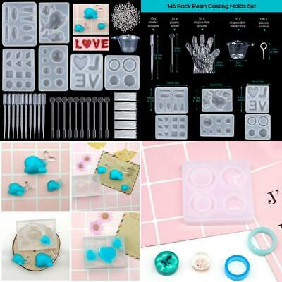 Resin Casting Molds, 146 Pcs Crafts,6 Silicone Dolphin Love Ring Pendant...