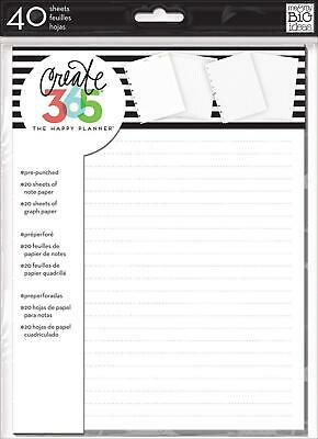 Me & My Big Ideas Paper Create 365 Note and Graph 40 Sheets-White