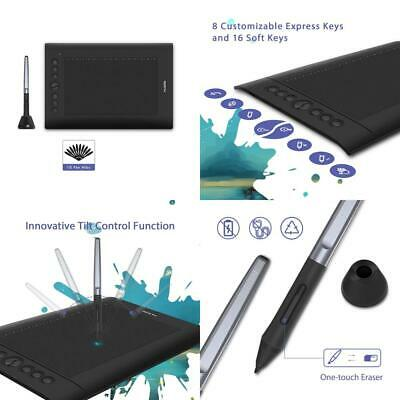 HUION H610PRO V2 Battery-free Pen Graphic Tablet of 8192 Levels with Tilt...
