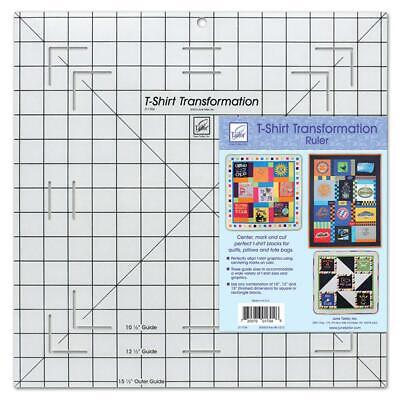 June Tailor T-Shirt Transformation Ruler, 15.5-inch, White, 15-1/2x15x1/2